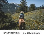 Horseback riding in the Grand Teton Mountain Range.