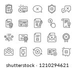 reject or cancel line icons.... | Shutterstock .eps vector #1210294621