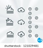 vector weather icons collection ...