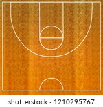 basketball court top view with...   Shutterstock . vector #1210295767