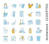 cleaning service color icons... | Shutterstock .eps vector #1210297531