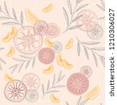 colorful citrus vector seamless ...