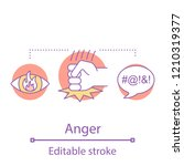 anger concept icon. aggression... | Shutterstock .eps vector #1210319377