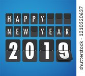 happy new 2019 year. greetings... | Shutterstock .eps vector #1210320637
