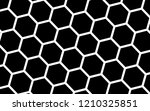 white honeycomb on a black... | Shutterstock . vector #1210325851