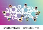 flat design illustration... | Shutterstock .eps vector #1210330741