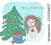 christmas and winter vector... | Shutterstock .eps vector #1210336837