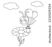 working bee illustration on... | Shutterstock . vector #1210339354
