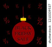 black friday sale illustration... | Shutterstock . vector #1210339537