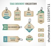 vector stickers  price tag ... | Shutterstock .eps vector #1210339711