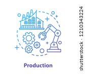 production concept icon.... | Shutterstock .eps vector #1210343224