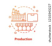 production concept icon.... | Shutterstock .eps vector #1210343227
