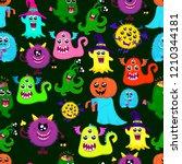 abstract halloween seamless... | Shutterstock . vector #1210344181