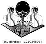 air force pilots oxygen masks... | Shutterstock .eps vector #1210345084