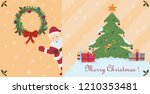 vector layout of postcards on... | Shutterstock .eps vector #1210353481