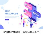 freelancers service concept... | Shutterstock .eps vector #1210368574