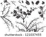 Vector Silhouettes Of Various...