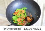 close up of thai food fried... | Shutterstock . vector #1210375321