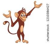 cute monkey chimpanzee flat...   Shutterstock .eps vector #1210386427