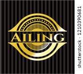 ailing gold emblem or badge   Shutterstock .eps vector #1210390681