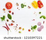 the ingredients for homemade... | Shutterstock . vector #1210397221