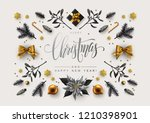chic christmas postcard with... | Shutterstock .eps vector #1210398901