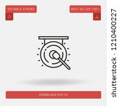outline gong vector icon.... | Shutterstock .eps vector #1210400227
