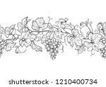 horizontal seamless pattern... | Shutterstock .eps vector #1210400734