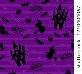 abstract seamless halloween... | Shutterstock . vector #1210404067