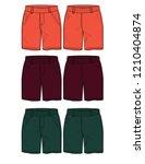 shorts vector template font... | Shutterstock .eps vector #1210404874