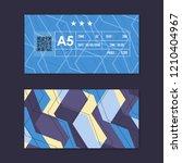 ticket card coupon modern...   Shutterstock .eps vector #1210404967