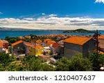 beautiful landscape rooftops of ... | Shutterstock . vector #1210407637