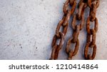 chains with rust on the cement... | Shutterstock . vector #1210414864