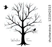 winter tree and crows