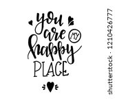 you are my happy place hand... | Shutterstock .eps vector #1210426777