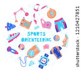 vector illustration of sport... | Shutterstock .eps vector #1210427851