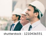 closeup of three smiling... | Shutterstock . vector #1210436551