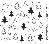 seamless pattern with christmas ... | Shutterstock .eps vector #1210442914