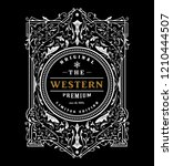 antique frame western design... | Shutterstock .eps vector #1210444507