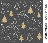 seamless pattern with christmas ... | Shutterstock .eps vector #1210444531