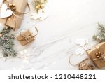 merry christmas and happy... | Shutterstock . vector #1210448221