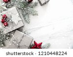 merry christmas and happy... | Shutterstock . vector #1210448224