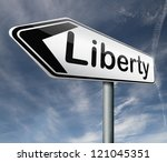 liberty freedom democracy and... | Shutterstock . vector #121045351