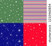 christmas pattern set and... | Shutterstock .eps vector #1210460854