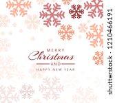 christmas snowflakes decorative ... | Shutterstock .eps vector #1210466191