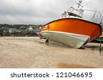 Boat Moored At Low Tide  St...