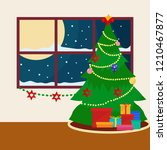 decorated christmas tree and... | Shutterstock .eps vector #1210467877