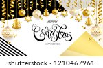 merry christmas and happy new...   Shutterstock .eps vector #1210467961