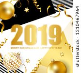 2019 merry christmas and happy...   Shutterstock .eps vector #1210467964