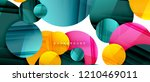 glossy colorful circles... | Shutterstock .eps vector #1210469011